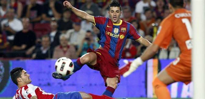 Messi'nin yokluğunda sahne Villa'nın