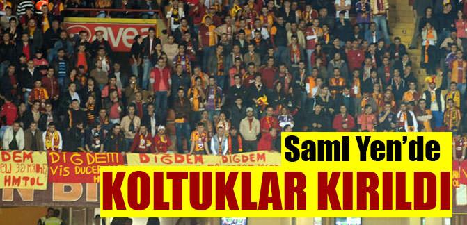 Sami Yen'de koltuklar kırıldı