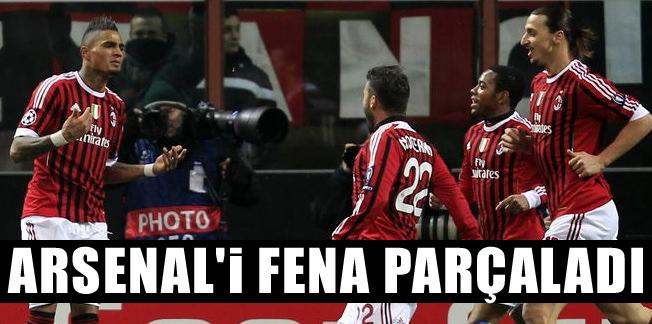 Milan, Arsenal'i fena parçaladı