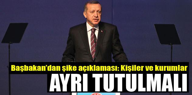 Başbakan Erdoğan'dan şike açıklaması