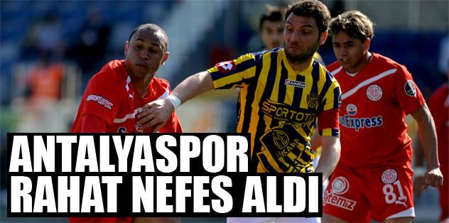 Antalyaspor rahat nefes aldı