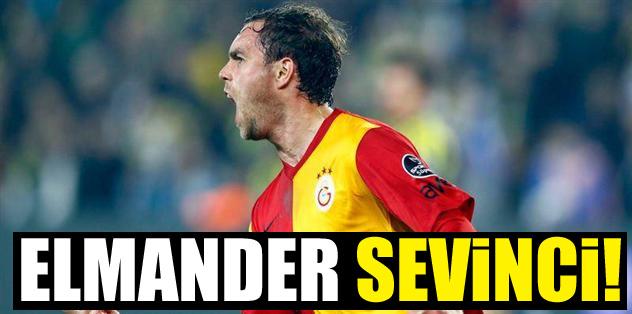Galatasaray'da Elmander sevinci!