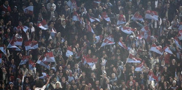 Trabzonspor taraftarlarından tepki