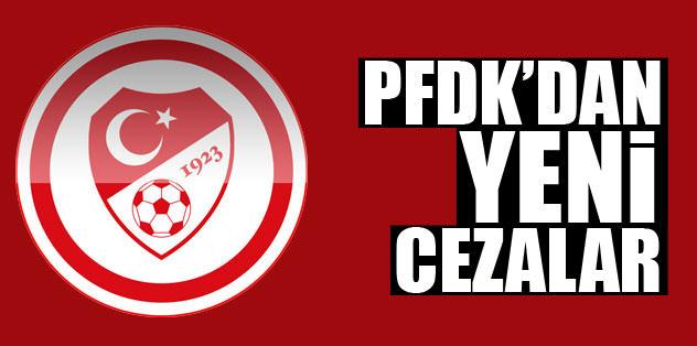PFDK'dan yeni cezalar