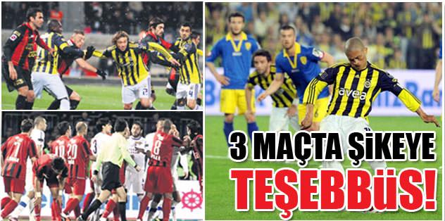 3 maçta teşebbüs