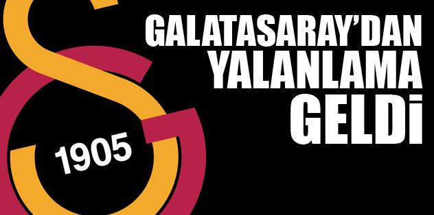 Galatasaray'dan yalanlama