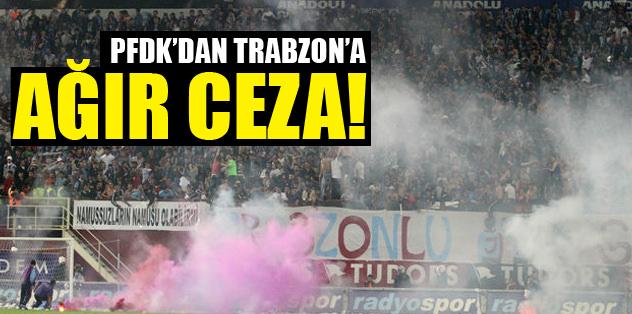Trabzonspor'a 4 maç seyircisiz oynama!