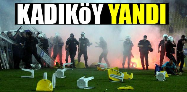 Kadıköy yandı