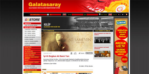 Ali Sami Yen'in doğum gününü kutlandı