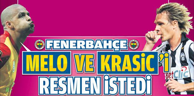 Fenerbahçe, Melo ve Krasic'i resmen istedi