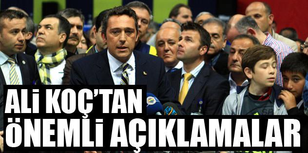 Ali Koç'tan önemli açıklamalar!