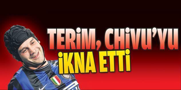 Terim, Chivu'yu ikna etti