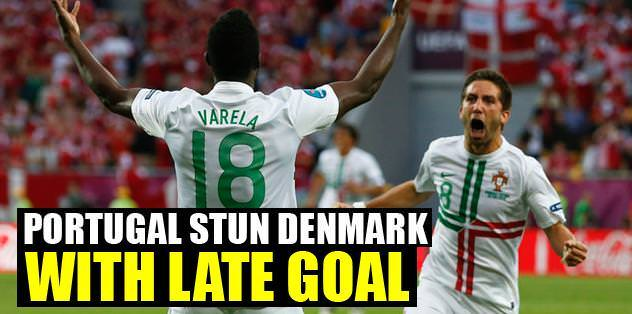Portugal stun Denmark with late goal