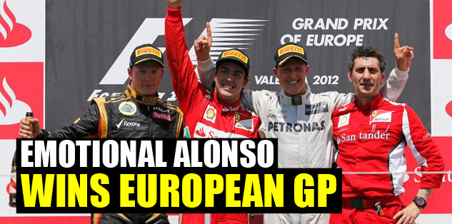 Emotional Alonso wins European GP