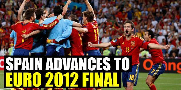 Spain advances to Euro 2012 final