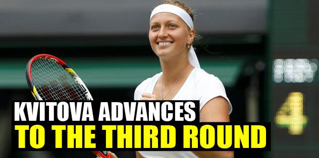 Kvitova advances to the third round
