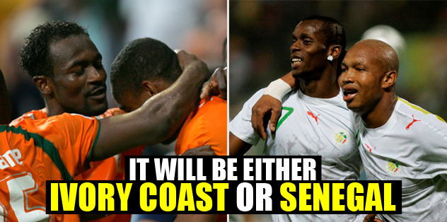 It will be either Ivory Coast or Senegal