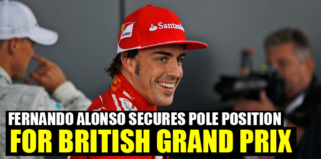 Fernando Alonso secures pole position for British Grand Prix