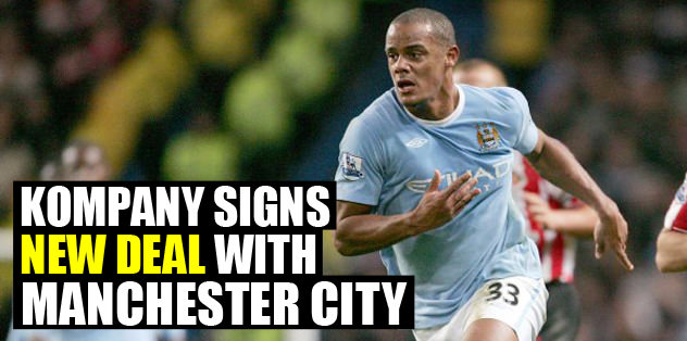 Kompany signs new deal with City