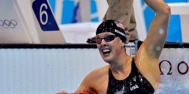 200 metre serbestte altın Allison Schmitt'in