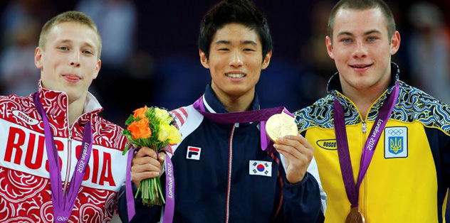 Atlama masasında zafer Yang Hak Seon'un