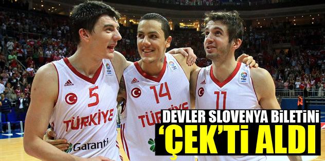 Devler Slovenya biletini 'Çek'ti aldı