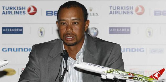 Tiger Woods Antalya'da