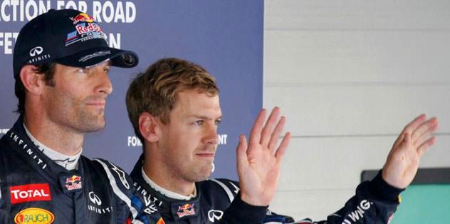 Webber ilk sırada