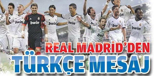 Real Madrid'den Türkçe mesaj