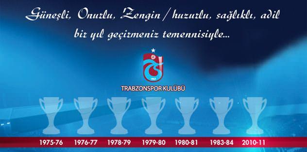 Şampiyonluk kupalı yeni yıl kutlaması