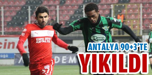 Antalya 90+3'te yıkıldı