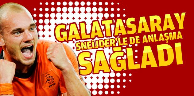 Galatasaray, Sneijder'le her konuda anlaştı