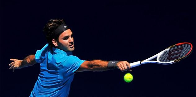 Federer çok rahat