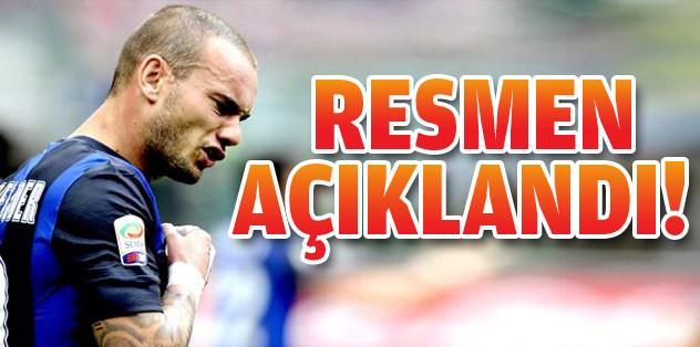 Galatasaray, Sneijder'i resmen açıkladı!
