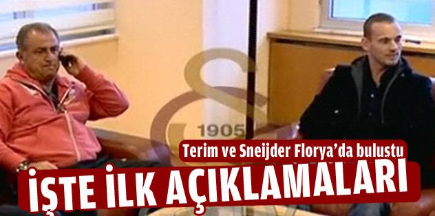 Terim ve Sneijder birarada: İşte ilk açıklamaları