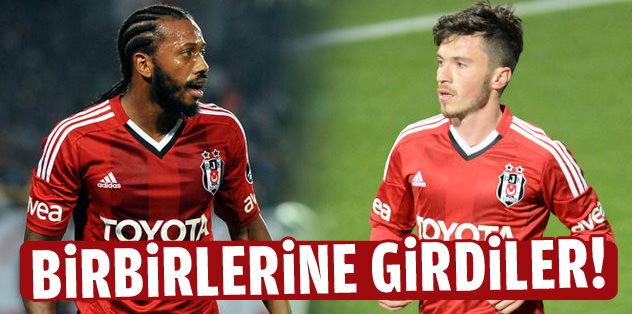 Beşiktaş idmanında kavga!