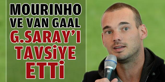 "Sneijder: ""Mourinho ve van Gaal bana G.Saray'ı tavsiye etti."""