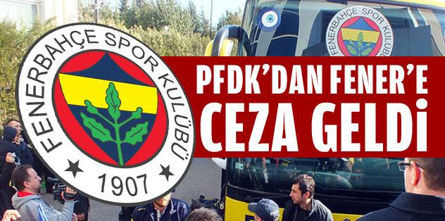 Fenerbahçe'ye para cezası geldi