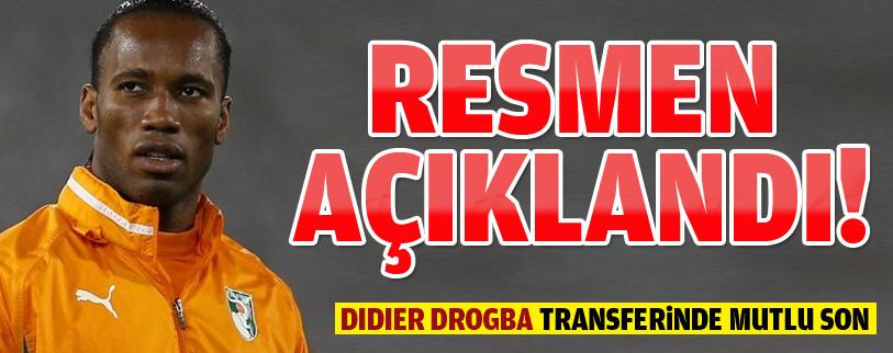 Drogba resmen Galatasaray'da!