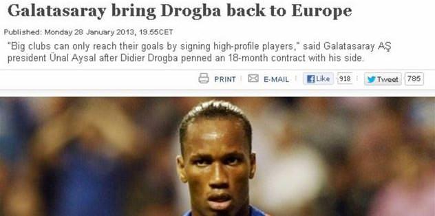 Dünya Drogba'yı diline doladı