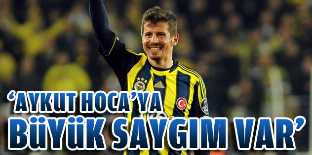 """Emre Belözoğlu: """"Aykut Hoca'ya büyük saygım var"""""""