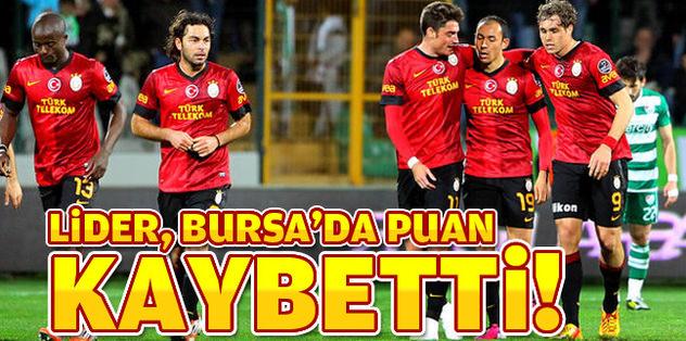 Cimbom, Bursa'da 2 puan bıraktı!