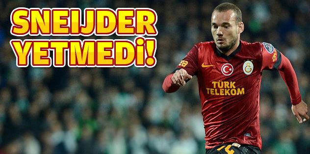 Sneijder yetmedi