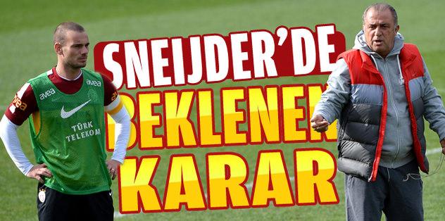 Wesley Sneijder müjdesi