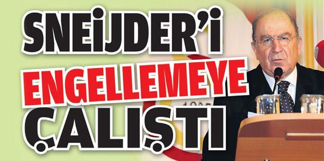 Sneijder'i engellemeye çalıştı
