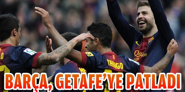 Barça, Getafe'ye patladı