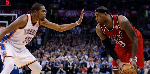 Lebron, Durant'ı yendi