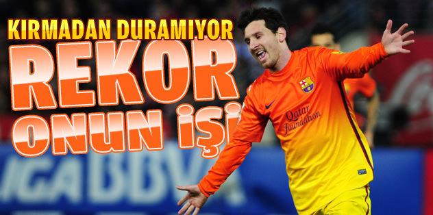 Rekor, Messi'nin işi