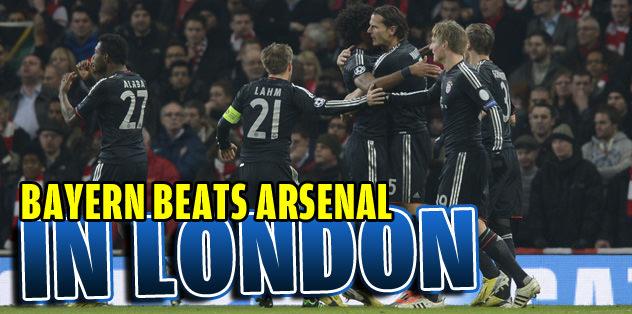Bayern beats Arsenal in London