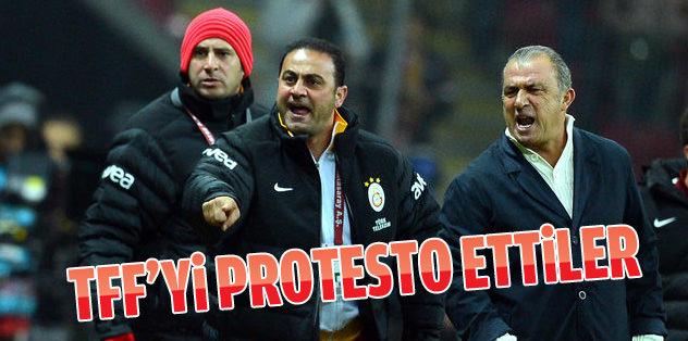 TFF'yi protesto ettiler